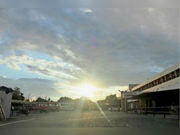 कैथल| मंगलवार शाम को छाए बादल। - Dainik Bhaskar