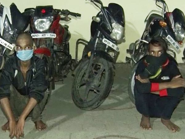 आरोपियों ने लसुड़िया, तुकोगंज, आजादनगर, संयोगितागंज क्षेत्र में वारदातें करना कबूली हैं। - Dainik Bhaskar