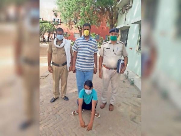 चरखी दादरी जिले के गांव रावलधी नहर के पास। अवैध पिस्तौल सहित दबोचा गया आरोपी। - Dainik Bhaskar