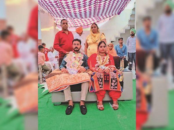 5 जून को फाजिल्का के काठगढ़ में हुई थी शादी। - Dainik Bhaskar