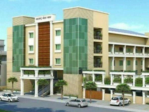 चौबे कॉलोनी में 18 हजार स्क्वेयर फीट में बना रहे भवन। बनने के बाद दिखेगा ऐसा। - Dainik Bhaskar