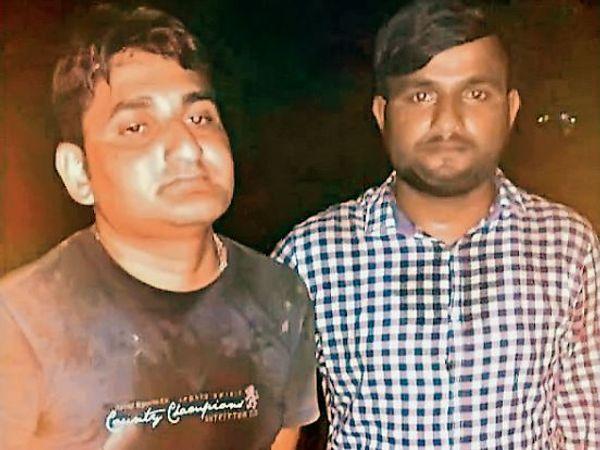 दोस्त को नहर में धक्का देने वाले दोनों आरोपी। - Dainik Bhaskar