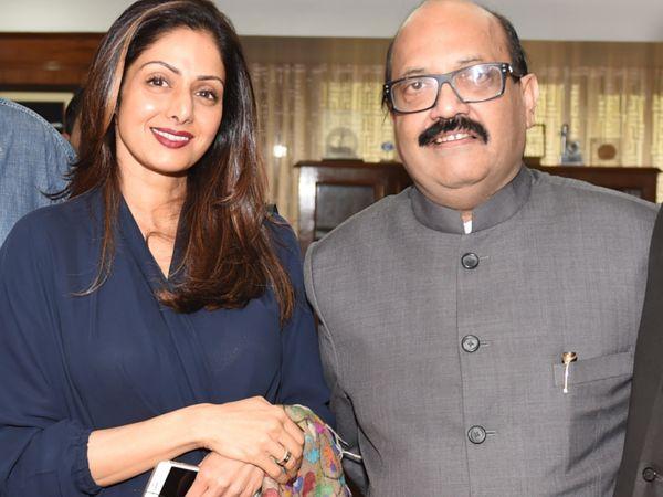 श्रीदेवी और बोनी कपूर के साथ अमर सिंह के काफी अच्छे ताल्लुकात थे। - Dainik Bhaskar