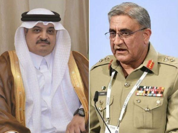 पाकिस्तान के आर्मी चीफ कमर जावेद बाजवा ने सऊदी अरब के राजदूत से सोमवार को मुलाकात की। उन्होंने दोनों देशों के आपसी रिश्ते से जुड़े मुद्दों पर चर्चा की।-फाइल फोटो - Dainik Bhaskar
