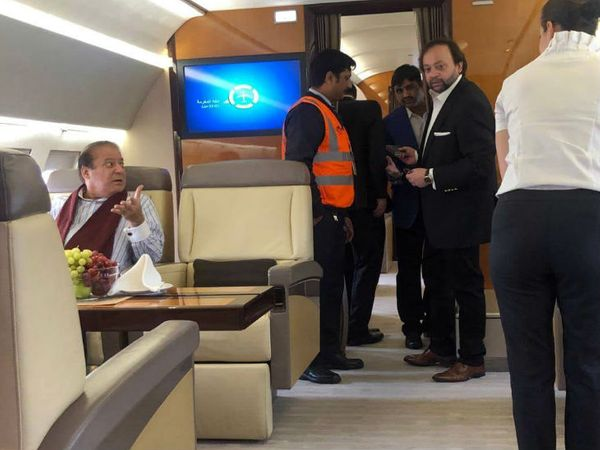 यह फोटो 20 नवंबर 2019 की है। नवाज शरीफ को एयर एंबुलेंस से इलाज के लिए लंदन ले जाया गया था।