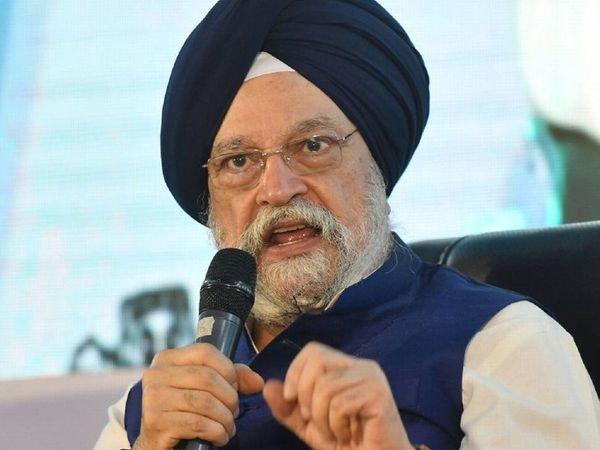 केंद्रीय मंत्री हरदीप सिंह पुरी ने कहा कि केंद्र सरकार इस समय एयरपोर्ट अथॉरिटी ऑफ इंडिया (एएआई) के साथ देशभर में 100 से ज्यादा हवाई अड्डों को मैनेज करती है। -फाइल फोटो - Dainik Bhaskar