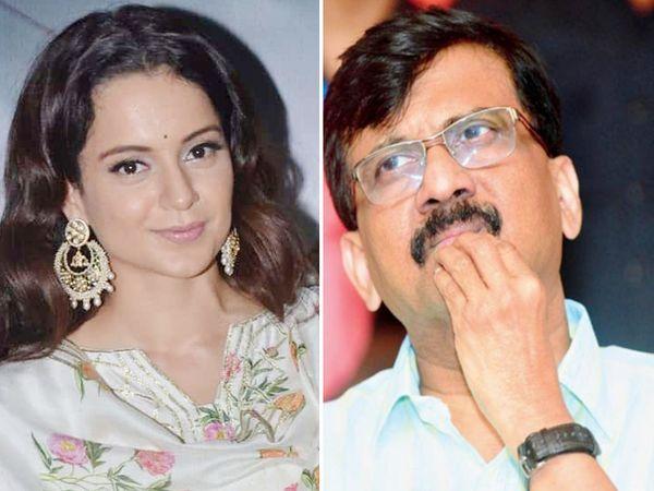 3 सितंबर को कंगना रनोट के उस बयान के साथ संजय राउत का विवाद शुरू हुआ था, जिसमें उन्होंने मुंबई की तुलना पाकिस्तान के कब्जे वाले कश्मीर से की थी। - Dainik Bhaskar