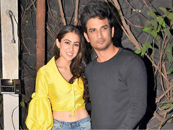 सारा अली खान और सुशांत सिंह राजपूत ने 2018 में आई फिल्म केदारनाथ में साथ काम किया था। - फाइल फोटो - Dainik Bhaskar