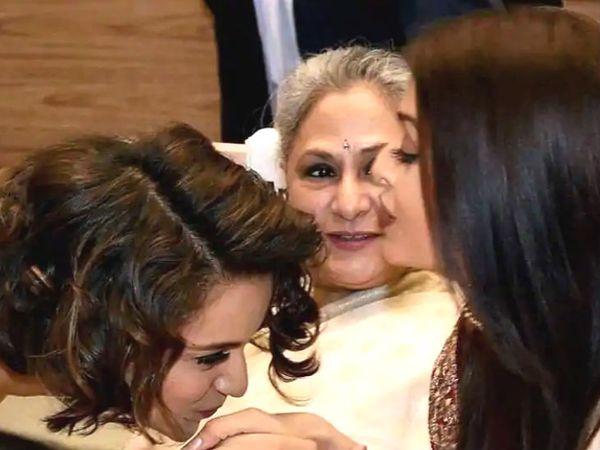 ये फोटो 2016 में 63वें राष्ट्रीय फिल्म पुरस्कारों की है। उस दौरान कंगना ने अवॉर्ड सेरेमनी में मौजूद जया बच्चन और ऐश्वर्या राय बच्चन से मुलाकात की थी। - Dainik Bhaskar