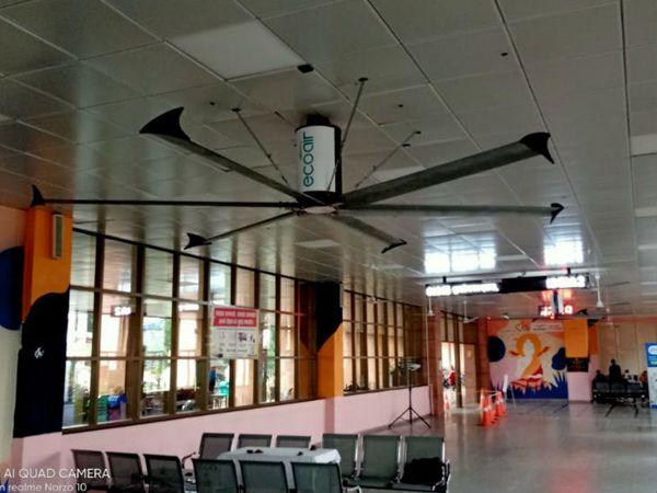 आम पंखों की तुलना में यह तीन गुना बड़े होते हैं। गति कम होती है, लेकिन हवा ज्यादा देते हैं। - Dainik Bhaskar