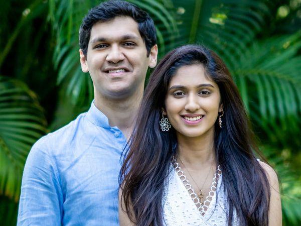 वंशिका अपने पति अभिजीत काजी के साथ। अभिजीत ने स्टैनफोर्ड यूनिवर्सिटी से एमबीए किया है, दोनों साथ मिलकर काम करते हैं।