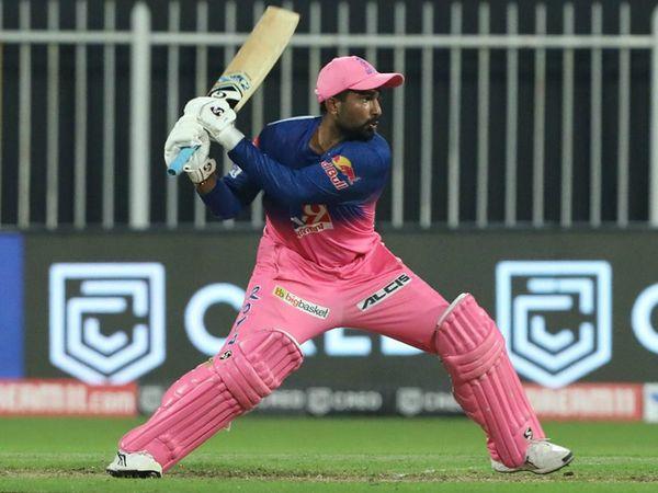 मैच में राजस्थान के राहुल तेवतिया भी छाए रहे। धीमी शुरुआत के बाद राहुल ने अपनी पारी की आखिरी 12 बॉल पर 45 रन बनाए।