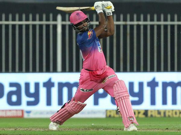 संजू सैमसन लगातार दूसरे मैच में मैन ऑफ द मैच रहे। उनके आईपीएल में 105 छक्के हो गए हैं।
