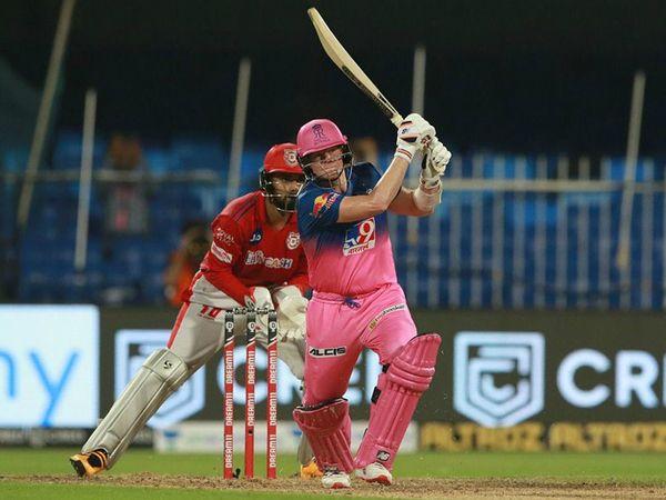 राजस्थान के कप्तान स्टीव स्मिथ ने भी मैच में शानदार फिफ्टी लगाई।