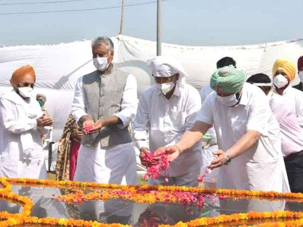 आज भगत सिंह की जयंती भी है। अमरिंदर सिंह ने शहीद को श्रद्धांजलि दी।