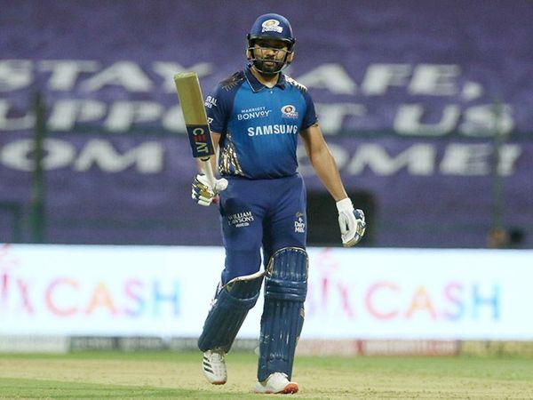 मुंबई के कप्तान रोहित शर्मा ने आईपीएल के इस सीजन की दूसरी फिफ्टी लगाई। रोहित की पारी की बदौलत टीम का स्कोर 190 रन के पार पहुंच सका। - Dainik Bhaskar