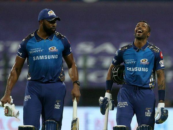कीरोन पोलार्ड ने 20 बॉल पर नाबाद 47 रन की ताबड़तोड़ पारी खेली। पोलार्ड ने पारी के आखिरी 3 बॉल पर 3 छक्के भी लगाए। जिसकी बदौलत मुंबई ने आखिरी 6 ओवरों में 104 रन बनाए।