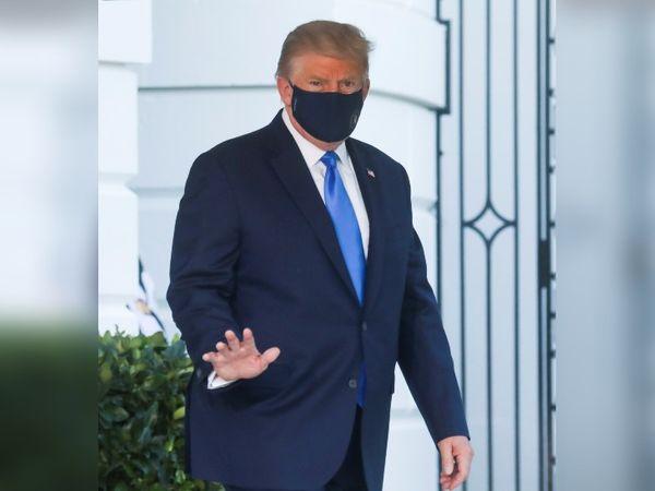 अमेरिकी राष्ट्रपति डोनाल्ड ट्रम्प शुक्रवार को कोरोना पॉजिटिव पाए गए थे। - Dainik Bhaskar