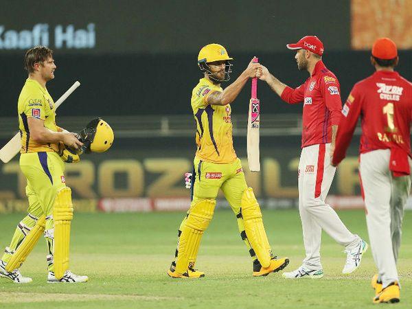 चेन्नई सुपरकिंग्स के फाफ डु प्लेसिस और शेन वॉटसन ने 106 बॉल पर 181 रन की नाबाद ओपनिंग पार्टनरशिप की। - Dainik Bhaskar