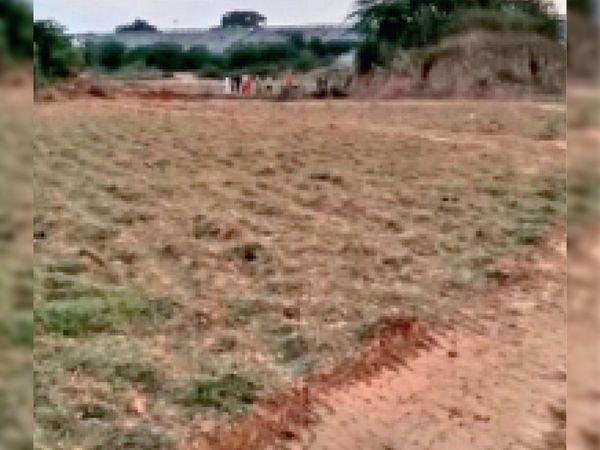 चांदपुर में सीएम ने स्टेडियम के लिए भूमिपूजन किया था, काम शुरू नहीं हुआ। - Dainik Bhaskar