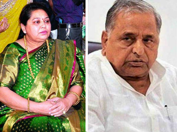 मुलायम सिंह की रिपोर्ट पॉजिटिव आने पर पत्नी साधना गुप्ता का भी टेस्ट किया गया था। वह भी पॉजिटिव पाई गई हैं। - फाइल - Dainik Bhaskar