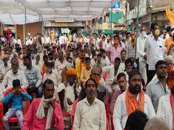सभा में बड़ी संख्या में कार्यकर्ता पहुंचे।