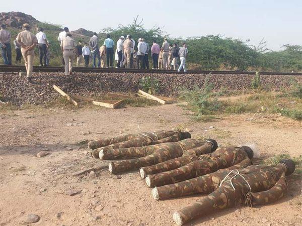 एनएलयू छात्र की मौत की जांच के लिए पहुंची टीम ने इस तरह से डमी बनाए। - Dainik Bhaskar