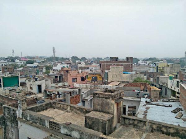 बादल छाने के बाद कुछ ऐसा रहा शहर का नजारा। - Dainik Bhaskar