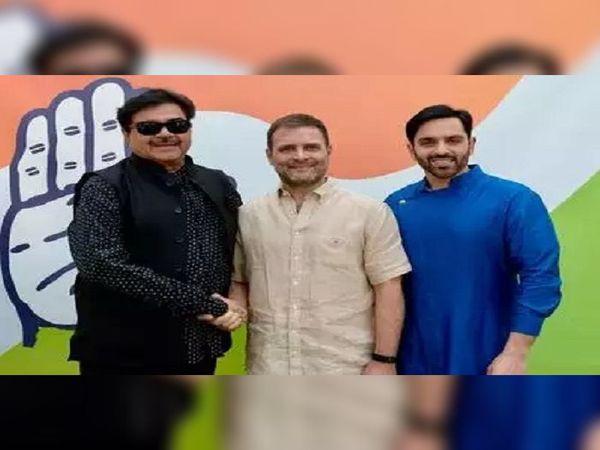 शत्रुघ्न सिन्हा के बेटे लव सिन्हा को कांग्रेस ने बांकीपुर विधानसभा सीट से अपना उम्मीदवार बनाया है।  -फाइल फोटो। - Dainik Bhaskar