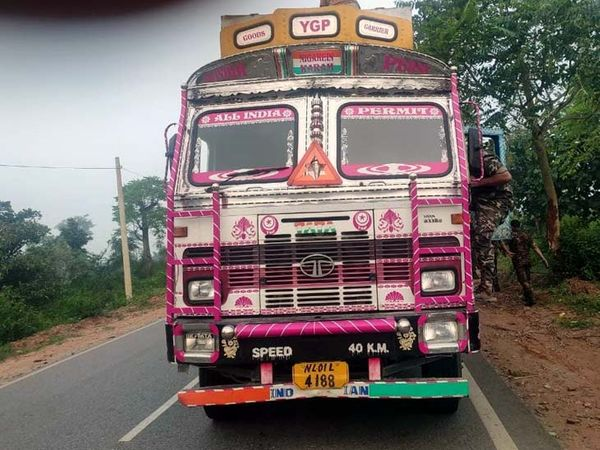 पुलिस ने ट्रक के ड्राइवर व उसके साथ बैठे एक मजदूर को गिरफ्तार कर लिया है। - Dainik Bhaskar