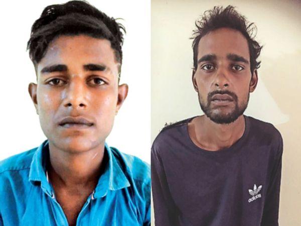 आरोपी राहुल और आरोपी शाहरुख (फाइल फोटो) - Dainik Bhaskar
