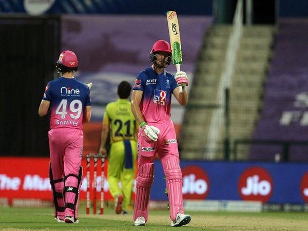 राजस्थान रॉयल्स के विकेटकीपर बल्लेबाज जोस बटलर चेन्न्ई सुपर किंग्स  के खिलाफ मैच में  मैन ऑफ द मैच रहे। उन्होंने आईपीएल के खेले 54 मैचों में 35.05 की औसत से 1648 रन बनाए हैं। जिसमें 11 अर्धशतक शामिल है। - Dainik Bhaskar