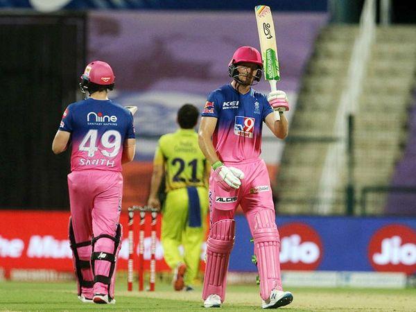 जोस बटलर ने आईपीएल में अपनी 11वीं फिफ्टी लगाई और उन्होंने अपनी टीम को आसान जीत लगाई।