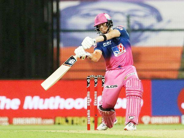 राजस्थान के कप्तान स्टीव स्मिथ 26 रन बनाकर नाॅटआउट रहे।
