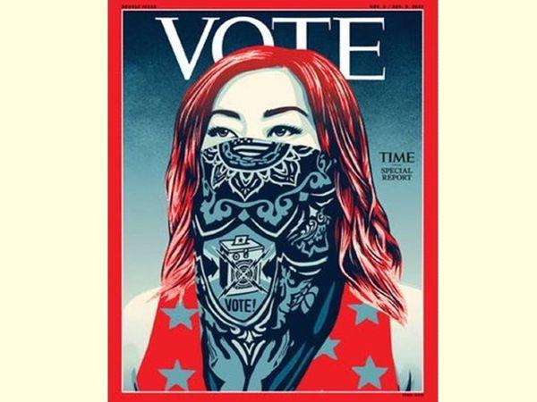 मैगजीन ने अमेरिका नागरिकों से राष्ट्रपति चुनाव में वोट करने की अपील की है। - Dainik Bhaskar