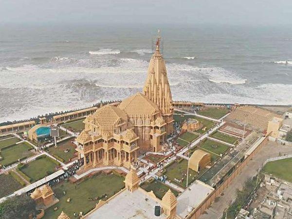 प्रथम ज्योर्तिलिंग सोमनाथ मंदिर। - Dainik Bhaskar