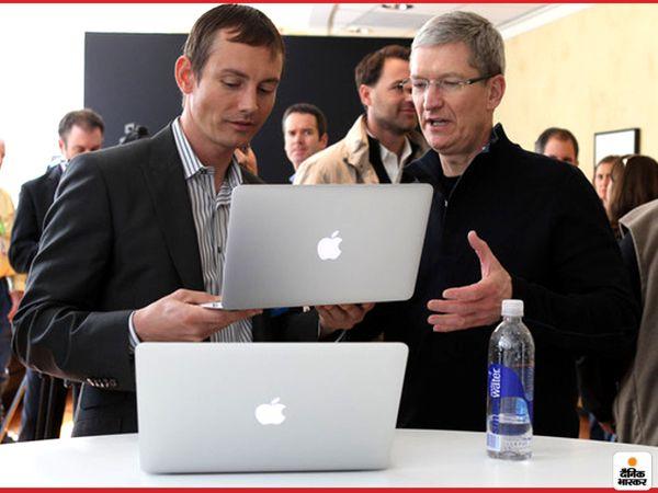 एपल 13-इंच और 16-इंच मैकबुक प्रो और 13-इंच मैकबुक एयर को लॉन्च कर सकती है। (फाइल फोटो) - Dainik Bhaskar