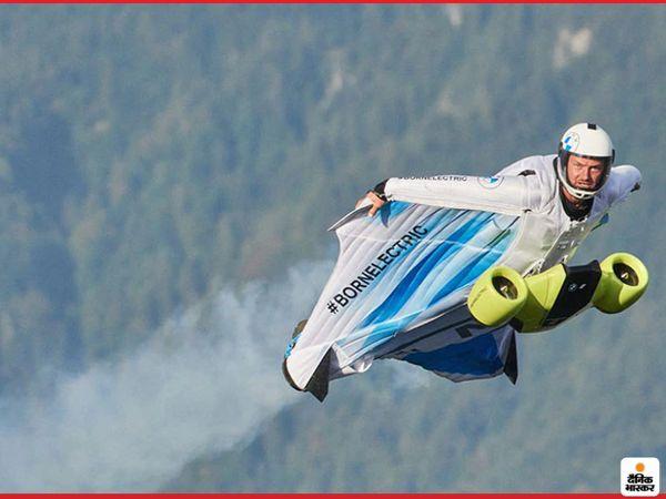 विंगसूट का परीक्षण ऑस्ट्रिया के पहाड़ों के ऊपर पूरी सेफ्टी के साथ किया गया - Dainik Bhaskar