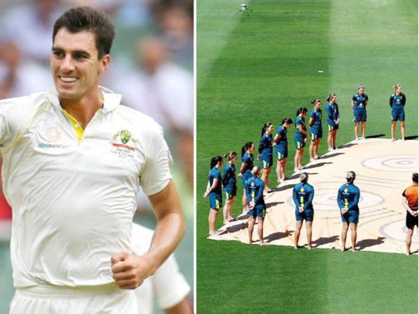 पैट कमिंस ने कहा- ऑस्ट्रेलियाई टीम नस्लवाद के खिलाफ है। इससे पहले महिला टीम ने न्यूजीलैंड के खिलाफ बेयरफुट सर्कल बनाया था।- फाइल फोटो - Dainik Bhaskar