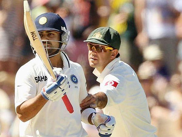 एक मैच के दौरान भारतीय कप्तान विराट कोहली और पूर्व ऑस्ट्रेलियाई कैप्टन रिकी पोंटिंग। -फाइल फोटो - Dainik Bhaskar