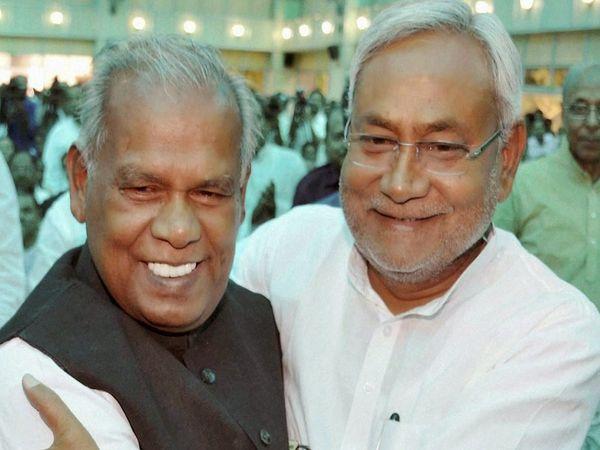 जीतन राम मांझी ओर नीतीश कुमार (फाइल फोटो) - Dainik Bhaskar