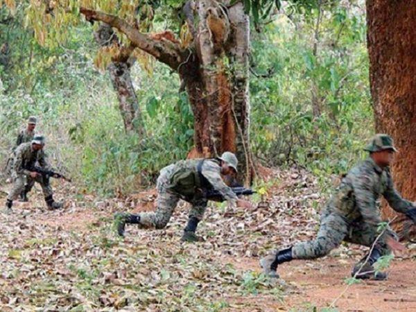 छत्तीसगढ़ के बीजापुर में गुरुवार तड़के DRG और जिला पुलिस बल के जवानों ने मुठभेड़ में एक नक्सली को मार गिराया। -फाइल फोटो। - Dainik Bhaskar