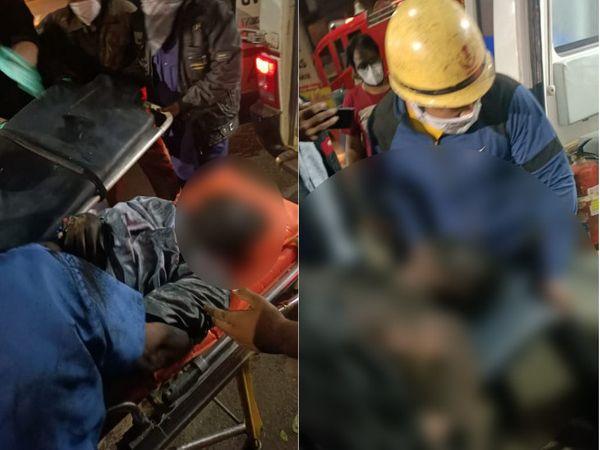बचाव दल ने अस्पताल में राहत अभियान चलाया।