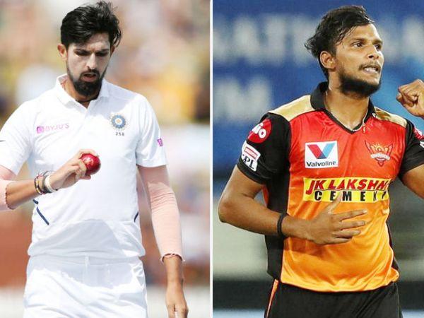 ईशांत शर्मा टेस्ट सीरीज से बाहर हो गए हैं। वहीं, टी नटराजन (दाएं) को वनडे सीरीज के लिए टीम में शामिल किया गया। -फाइल फोटो - Dainik Bhaskar