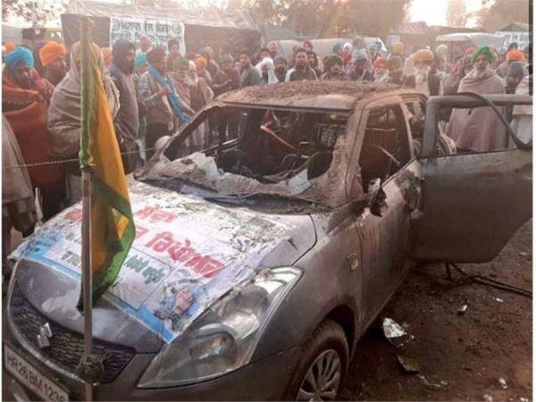 इसी कार में जलने से प्रदर्शनकारी की मौत हुई। घटना के समय वह कार में सो रहा था।