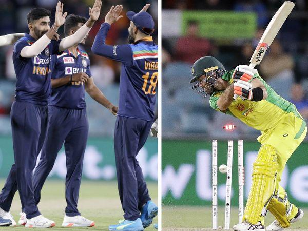 38 बॉल पर 59 रन बनाने वाले ग्लेन मैक्सवेल को शानदार यॉर्कर पर आउट कर जसप्रीत बुमराह ने टीम को जीत की पटरी पर ला दिया। इसके बाद टीम इंडिया ने 13 रन से मैच जीत लिया। - Dainik Bhaskar