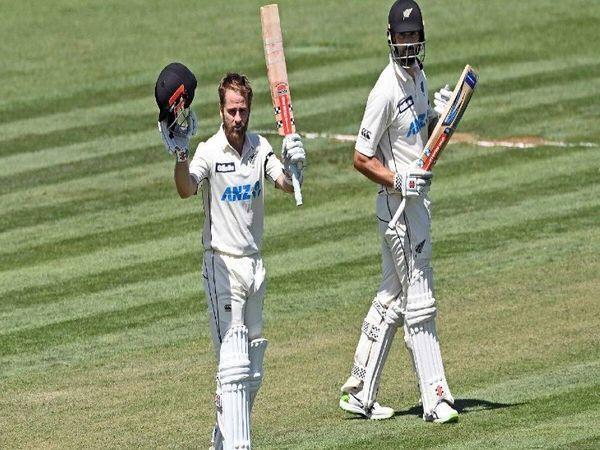 केन विलियम्सन ने वेस्टइंडीज के खिलाफ पहले टेस्ट की पहली पारी में 251 रन बनाए। - Dainik Bhaskar