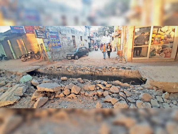 गुरु तेेग बहादुर नगर की लिंक रोड का रैंप दे रहा है हादसों को न्योता - Dainik Bhaskar