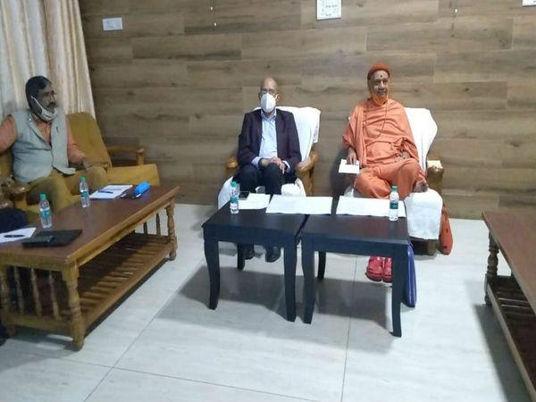 यूपी के अयोध्या में राम मंदिर निर्माण समिति की दो दिवसीय बैठक आज सम्पन्न हो गई। बैठक में कई विंदुओं पर चर्चा की गई। - Dainik Bhaskar