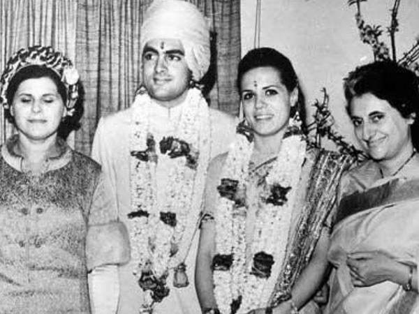 पूर्व प्रधानमंत्री राजीव गांधी ने 25 फरवरी 1968 को सोनिया से शादी की थी।